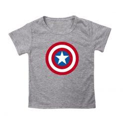 Captain America T Shirt for Kids Anime Oversized TShirt Super Hero Short Sleeve Hip Hop Boy 1