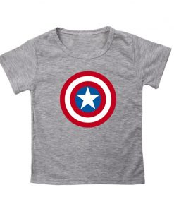 Captain America T Shirt for Kids Anime Oversized TShirt Super Hero Short Sleeve Hip Hop Boy 1