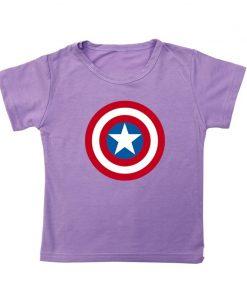 Captain America T Shirt for Kids Anime Oversized TShirt Super Hero Short Sleeve Hip Hop Boy 2