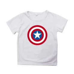 Captain America T Shirt for Kids Anime Oversized TShirt Super Hero Short Sleeve Hip Hop Boy