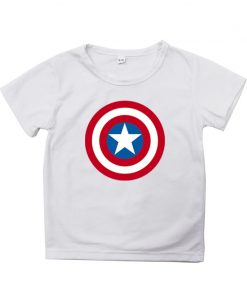 Captain America T Shirt for Kids Anime Oversized TShirt Super Hero Short Sleeve Hip Hop Boy