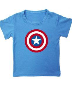 Captain America T Shirt for Kids Anime Oversized TShirt Super Hero Short Sleeve Hip Hop Boy 3