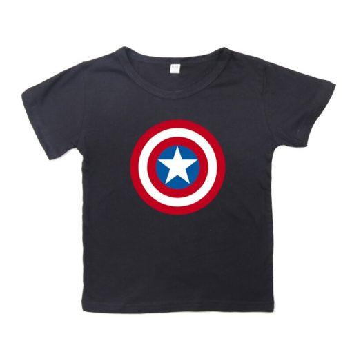Captain America T Shirt for Kids Anime Oversized TShirt Super Hero Short Sleeve Hip Hop Boy 4