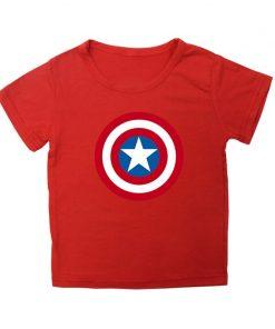 Captain America T Shirt for Kids Anime Oversized TShirt Super Hero Short Sleeve Hip Hop Boy 5