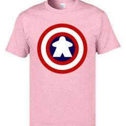 Captain America Tshirts Logo 100 Cotton Men 3D Tshirts Captain Meeple Craft T shirts Top Quality 1