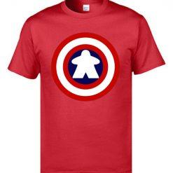 Captain America Tshirts Logo 100 Cotton Men 3D Tshirts Captain Meeple Craft T shirts Top Quality 2