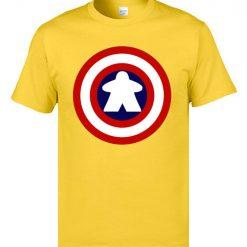 Captain America Tshirts Logo 100 Cotton Men 3D Tshirts Captain Meeple Craft T shirts Top Quality 3