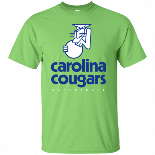 Carolina Cougars ABA Basketball Throwback Jersey Logo Charlotte Raleigh R Cartoon t shirt men Unisex New