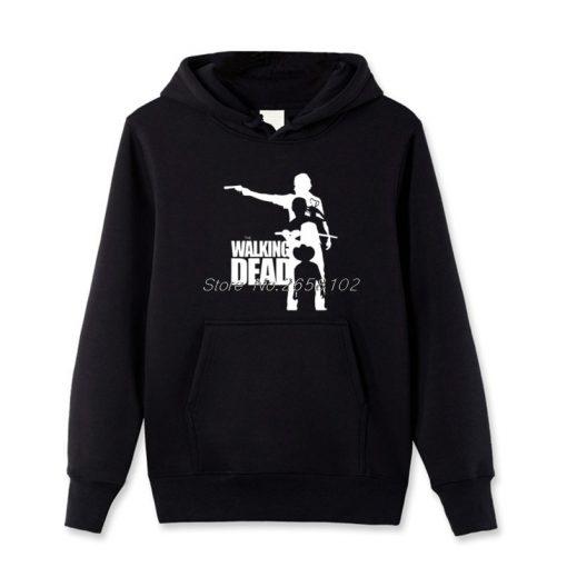Casual Men Streetwear Funny Fashion The Walking Dead Movie Hoodie Men Fleece Pullover Sweatshirt Spring Autumn