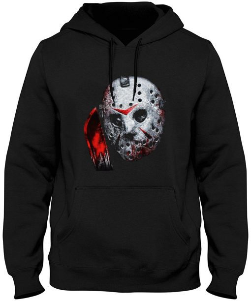 Changes Friday The 13th Jason Voorhees Airbrush Mask Black Printed Men Funny Hoodies Sweatshirts