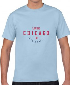 Chicago Bulls NO 8 Zach LaVine Men Basketball Jersey Tee Shirts Fashion Man streetwear tshirt 1
