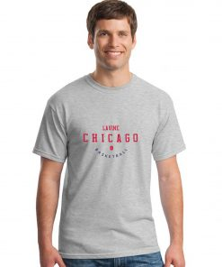 Chicago Bulls NO 8 Zach LaVine Men Basketball Jersey Tee Shirts Fashion Man streetwear tshirt 2