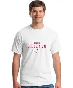 Chicago Bulls NO 8 Zach LaVine Men Basketball Jersey Tee Shirts Fashion Man streetwear tshirt