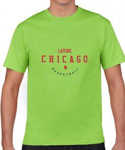 Chicago Bulls NO 8 Zach LaVine Men Basketball Jersey Tee Shirts Fashion Man streetwear tshirt 3