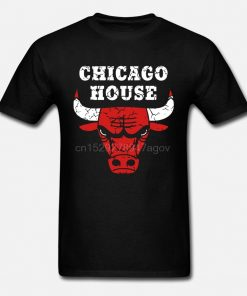 Chicago House T Shirt Vintage Bulls Style Frankie Articulations Techno Ibiza