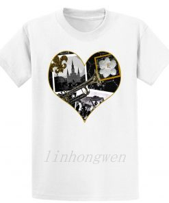 Classic New Orleans Black White Vintage Collage T Shirt Custom Gift Trend Pattern Summer Round Neck 1