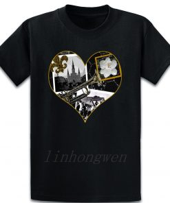 Classic New Orleans Black White Vintage Collage T Shirt Custom Gift Trend Pattern Summer Round Neck