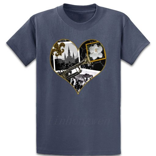 Classic New Orleans Black White Vintage Collage T Shirt Custom Gift Trend Pattern Summer Round Neck 3