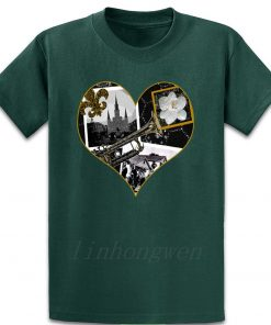Classic New Orleans Black White Vintage Collage T Shirt Custom Gift Trend Pattern Summer Round Neck 4