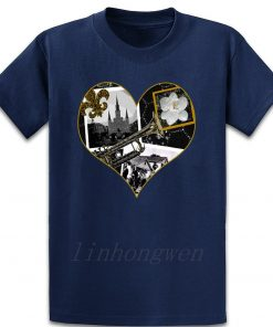 Classic New Orleans Black White Vintage Collage T Shirt Custom Gift Trend Pattern Summer Round Neck 5