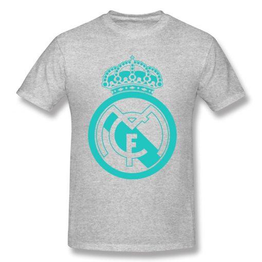 Classic Real Madrided T Shirt Men Letter Print Basic Tee Shirt Funny Design Short Sleeve Streetwear 2
