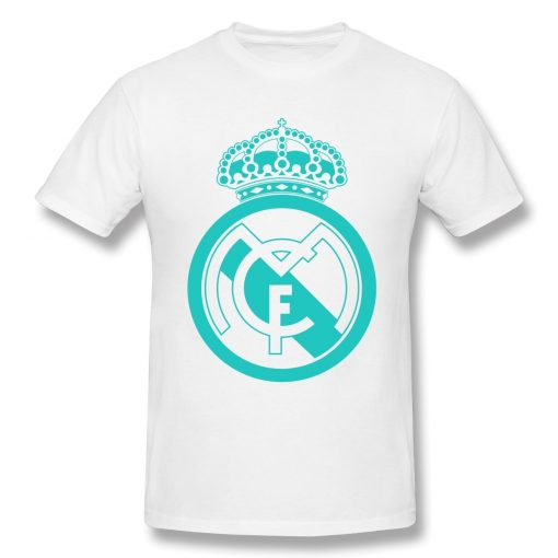 Classic Real Madrided T Shirt Men Letter Print Basic Tee Shirt Funny Design Short Sleeve Streetwear 3