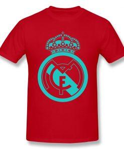 Classic Real Madrided T Shirt Men Letter Print Basic Tee Shirt Funny Design Short Sleeve Streetwear 4