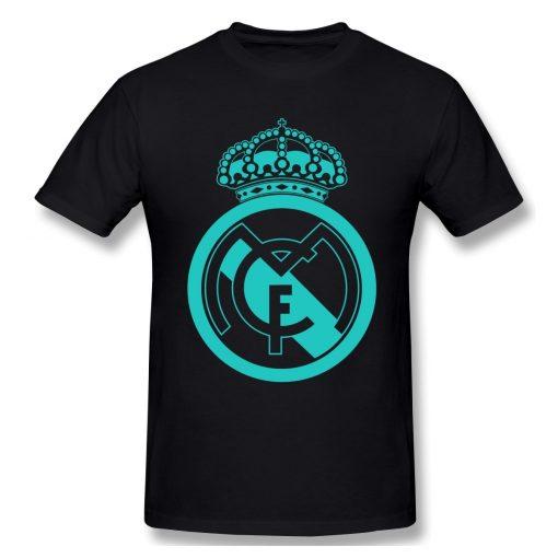 Classic Real Madrided T Shirt Men Letter Print Basic Tee Shirt Funny Design Short Sleeve Streetwear