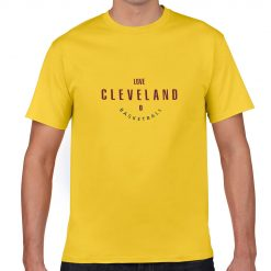 Cleveland Cavaliers Number 0 Kevin Love Man Art T Shirt 100 Cotton Tee Jersey Tops t