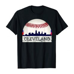 Cleveland Hometown Indian Tribe Tshirt Skyline Giant Ball