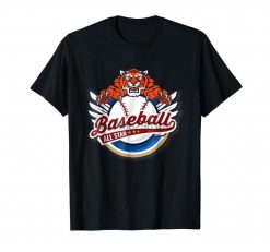 Clothing Tiger Mascot Distressed Detroit Baseball T Shirt 9328