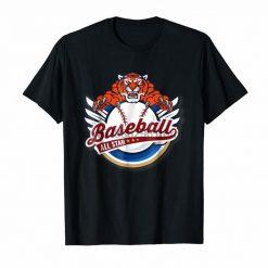 Clothing Tiger Mascot Distressed Detroit Baseball T Shirt 9328