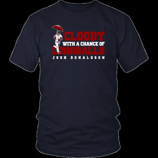 Cloudy With A Chance Of Longballs Shirt Josh Donaldson Atlanta Brave