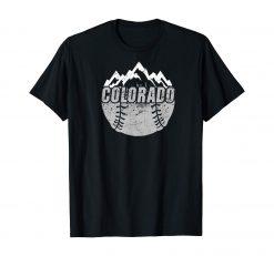 Colorado Baseball Rocky Mountains Design T Shirt