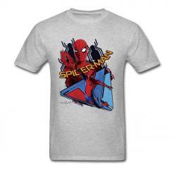 Comic Spiderman T Shirt Mens T shirt Swinging Spider Man Homecoming TShirt Cotton Autumn Crewneck Clothing 1