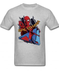 Comic Spiderman T Shirt Mens T shirt Swinging Spider Man Homecoming TShirt Cotton Autumn Crewneck Clothing 1