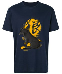 Cool T Shirts Men s Fashion Casual Tops Tees Oversized XXL Ookami Coyote Wolf Printed On 2