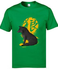 Cool T Shirts Men s Fashion Casual Tops Tees Oversized XXL Ookami Coyote Wolf Printed On