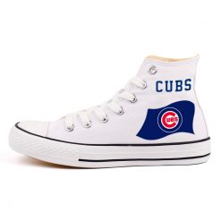 Customized Chicago Cubs Canvas Vulcanize High Top custom Shoes