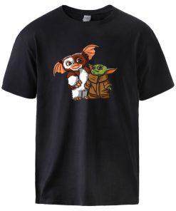 Cute Baby Yoda Mandalorian T shirts Mens Summer 100 Cotton Streetwear Tops T shirts 2020 Man