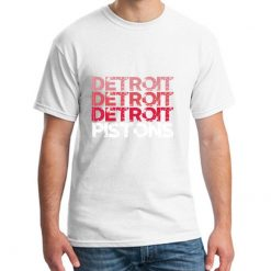 Cute Detroit Pistons tshirt big size s 9xL Formal mens workout shirts Letter male female tshirts
