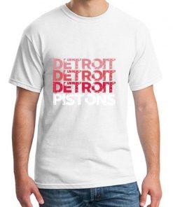 Cute Detroit Pistons tshirt big size s 9xL Formal mens workout shirts Letter male female tshirts