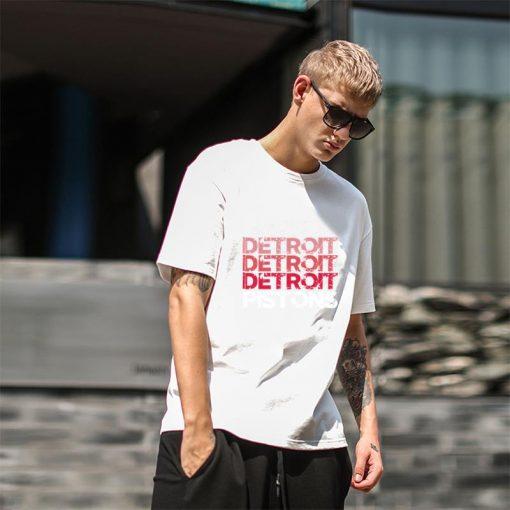 Cute Detroit Pistons tshirt big size s 9xL Formal mens workout shirts Letter male female tshirts 4
