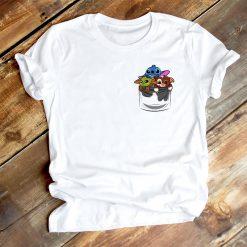 Cute Lilo Stitch Baby Yoda Groot Friend T Shirt Women Clothes Casual Cartoon O Neck Short 1