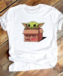 Cute Lilo Stitch Baby Yoda Groot Friend T Shirt Women Clothes Casual Cartoon O Neck Short 4