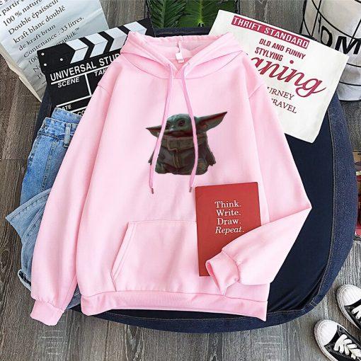Cute Yiddle hoodie Baby yoda mandalorian star wars kawaii king shirt Star Wars Baby hoody 1