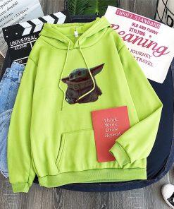 Cute Yiddle hoodie Baby yoda mandalorian star wars kawaii king shirt Star Wars Baby hoody 3