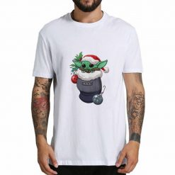 Cute cartoon T shirt boy baby Yoda Star Wars graphic gift T shirt boy girl friend 1