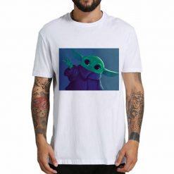 Cute cartoon T shirt boy baby Yoda Star Wars graphic gift T shirt boy girl friend