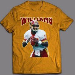 DOUG WILLIAMS THROWBACK Tops Tee T Shirt REDSKINS OLDSKOOL ARTWORK FULL FRONT OF T Shirt Latest